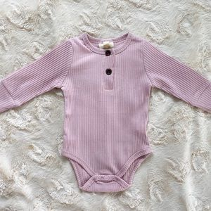 Other - Blush ribbed onesie with functional buttons.
